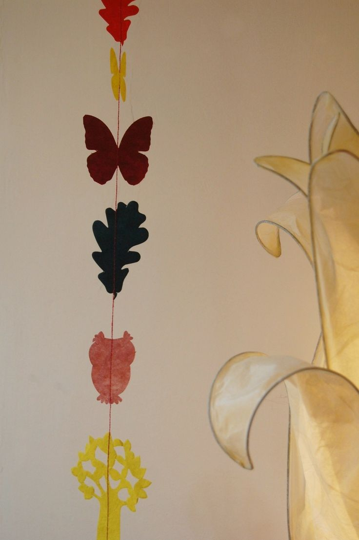 garland with oak leaves and trees DIY and link with FMC #fairyforest