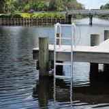 C&M Marine - 4 Step Standard Lift Dock Ladder - Marine Fiberglass Direct