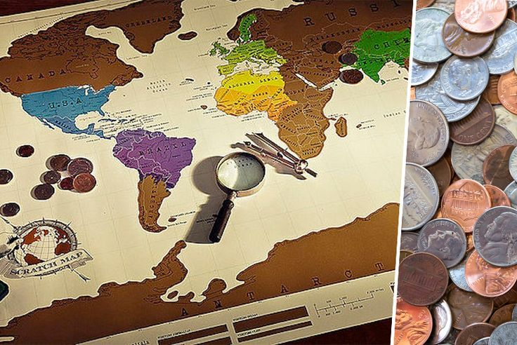 £7.99 instead of £19.99 (from E-Smartshop) for a scratch-off world map - work your way around the globe and save 60%