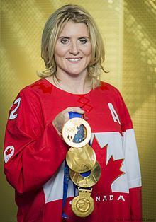 Hayley Wickenheiser made history when she got a point in a men's league in 2003, a women's first.