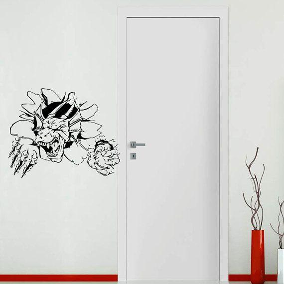 Wall Decals In Dorms : Wall decals dragon decal vinyl sticker window bedroom hall