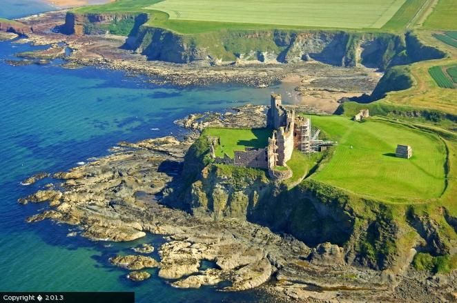 Tantallon castle, near North Berwick, East Lothian.