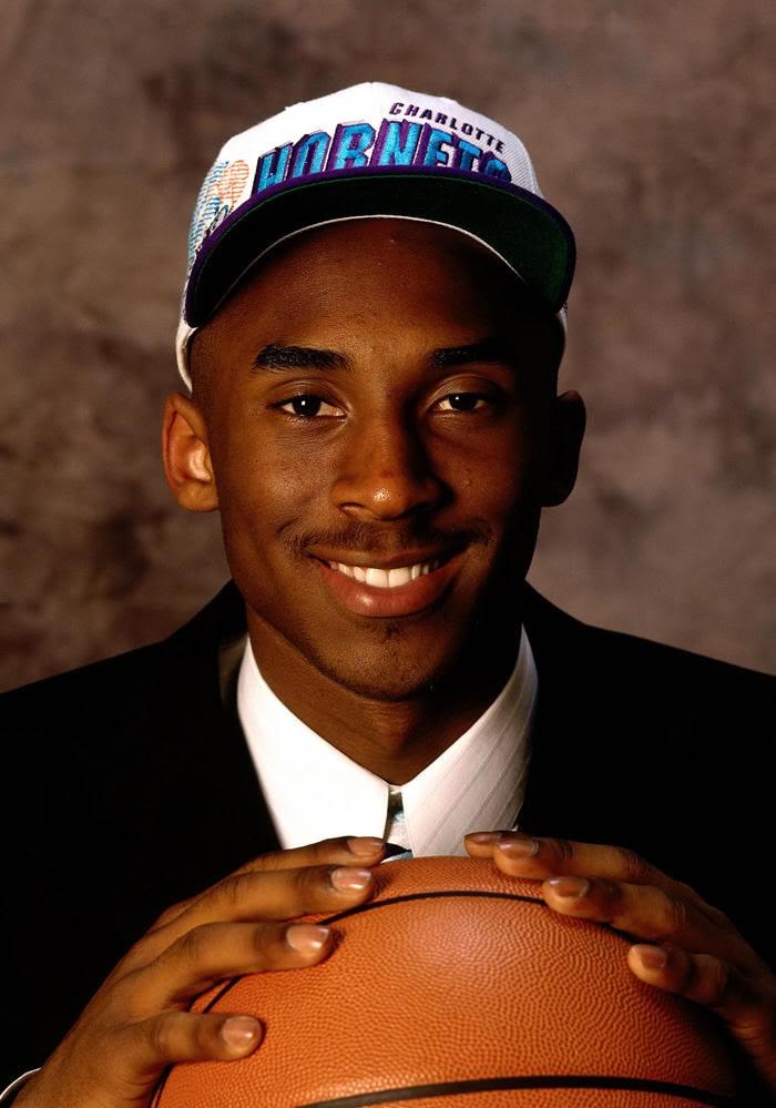 Kobe Bryant NBA Draft Charlotte Hornets