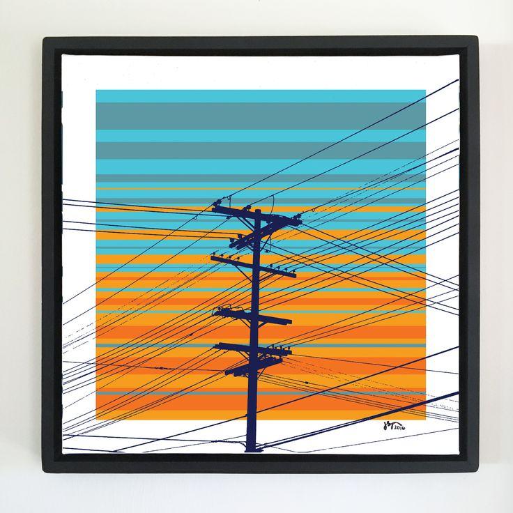 """Overflow series: """"Communications"""" art. 24 x 24 inch, digital art & gloss and matte gel on stretched canvas. 26.5 x 26.5 inch, float frame - black flat. ---------------------------------------- #popart #popartist #digitalart #art #artist #contemporaryart #colorfield #abstractart #gloss #matte #art #canvas #jonsavagegallery"""