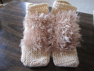 If I could knit, I would make a tiny pair! Happily Grim: Hobbit Feet Tutorial