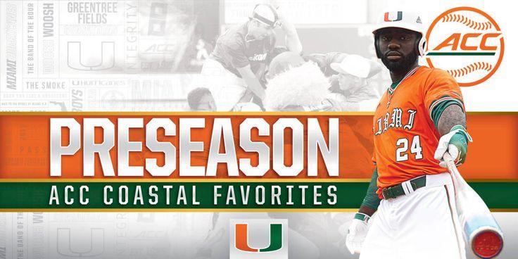 Baseball Picked to Win ACC Coastal Division - University of Miami ...