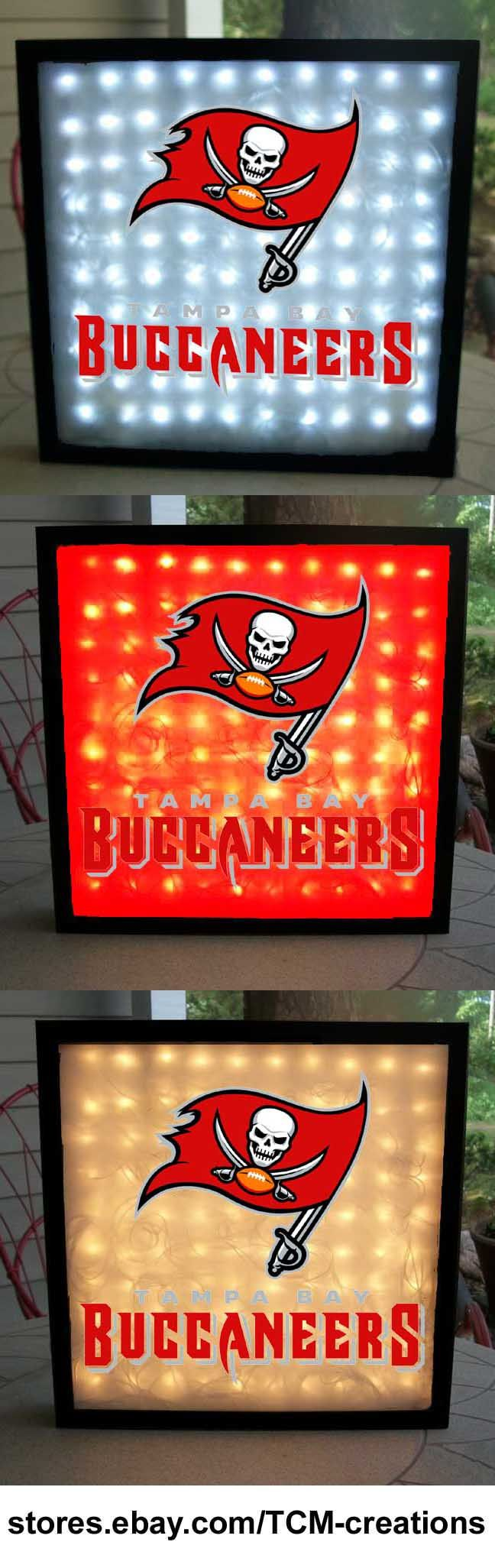 Tampa Bay Buccaneers shadow boxes with LED lighting.  NFL, National Football, League.