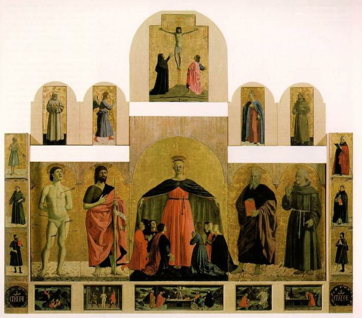 Piero della Francesca, Polyptych of the Misericordia, c. 1445 - 1462