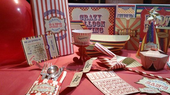 MEGA Massive Vintage Fair, Fete, Carnival or Circus Party Set - Printable - Customised - Downloadable on Etsy, $33.47 AUD