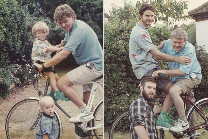 27 Childhood Photos Recreated