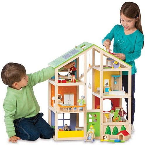 Hape - All Season Deluxe Dolls House 5 This dollhouse was at a daycare center I worked at and it was a winner! #PinToWin #EntropyWishList