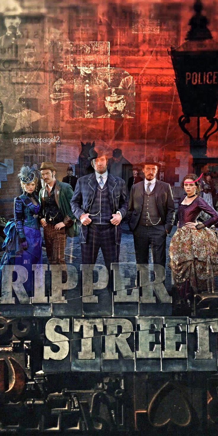 I made yet another phone lock screen wallpaper for Ripper Street! Extremely happy with it!