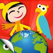 Kids Planet Discovery - games and videos to travel and learn about the world's geography, nature and cultures by Planet Factory Interactive