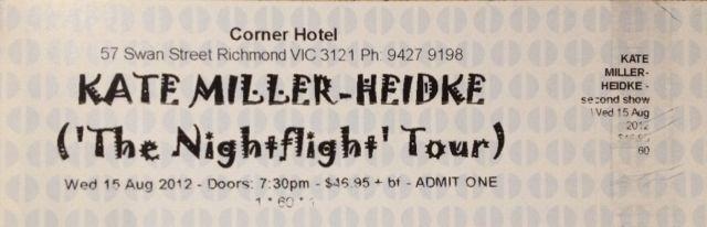 Kate Miller-Heidke, Melbourne, 2012