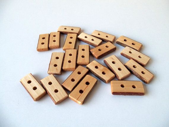 Wood Buttons  20 Handmade Wood Buttons  Olive Tree Branch