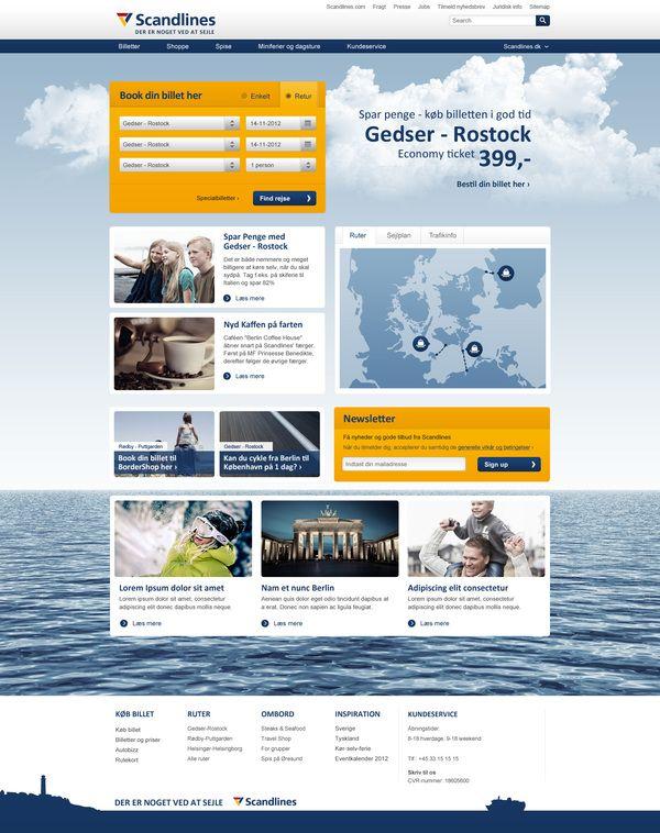 Scandlines.dk  website proposal and mobile web