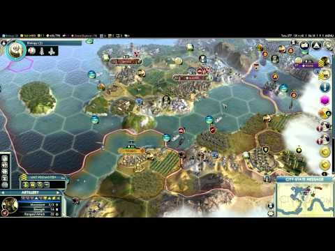 Let's Play Civilization 5 (Huge Earth Gameplay) - Part 38 - This is Sparta!