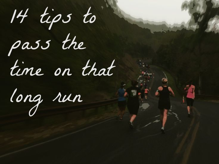 Running gets boring. Follow these 14 suggestions to pass the time during long distance training.