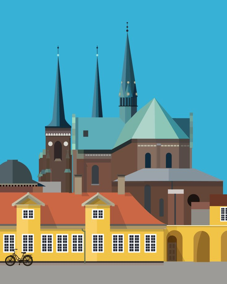 Roskilde Domkirke | Roskilde Cathedral dominates the skyline of Roskilde with it's immediately recognisable twin spires.   The main body was constructed during the 12th and 13th centuries, although numerous additions have been made since to accommodate a considerable number of burial chapels. The cathedral has been the main burial site for Danish monarchs since the 15th century.   In 1995 the Roskilde Cathedral was named as a UNESCO World Heritage Site.
