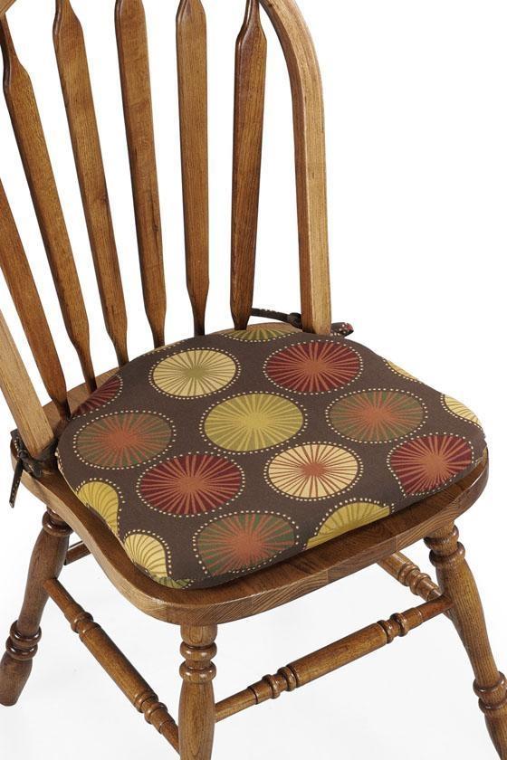 16w contoured dining chair cushion