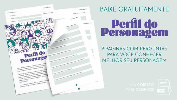 Perfil Do Personagem Download Gratis Como Escrever Um Livro