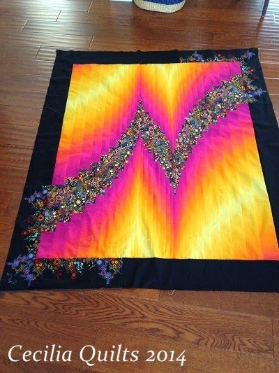 On the Frame with CeciliaQuilts: 2 Fabric Bargello