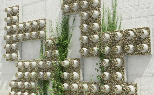 garden design made of recycled materials. DecoBricks Durable Building Bricks Made From Recycled PET Cups Garden Art Design Of Materials
