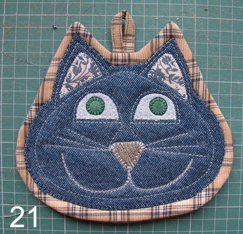 Прихватки - джинсовые коты - IrinaIric - Веб-альбомы Picasa