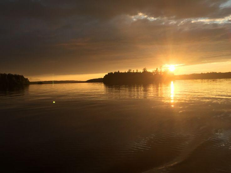 (C) Klaid-Erik Lanna #sunset #lake #iland #boat #beautiful #sun #fishing