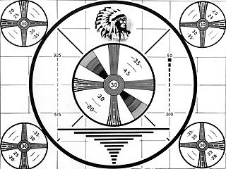 """There were many hours when no programing was showing on TV..so you would just watch the TEST PATTERN and listen to a constant """"who-o-o-o-o-o-o-o-o-o-o-o-o-o-o"""" tone till a program would come on the TV."""