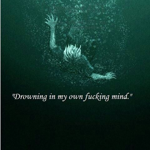 Lost in the ocean of my thoughts. Drifting through the sea called my mind.