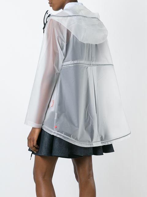 Hunter Transparenter Regenmantel mit Kapuze