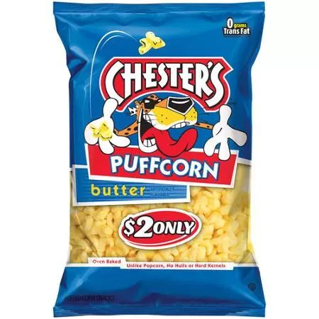Chester's Puffcorn Butter Puffed Corn Snacks, 3.5 oz