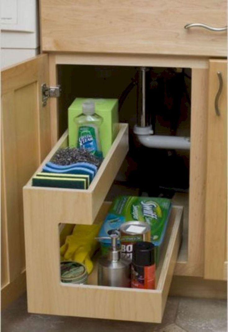 Kitchendesign Kitchenstorage Diy 80 Diy Furniture 80 Diy Furniture Projects For Kitchen Stor Kitchen Storage Solutions Diy Cabinets Kitchen Sink Decor