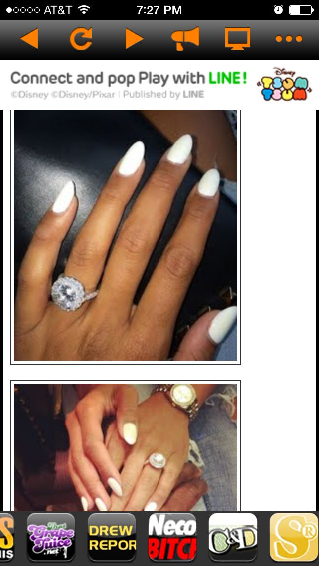 You Can Never Go Wrong With White Nails And A Engagement Ring