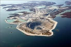 Diavik Mine, Canada   This incredible mine can be found 300km northeast of Yellowknife in Canada.