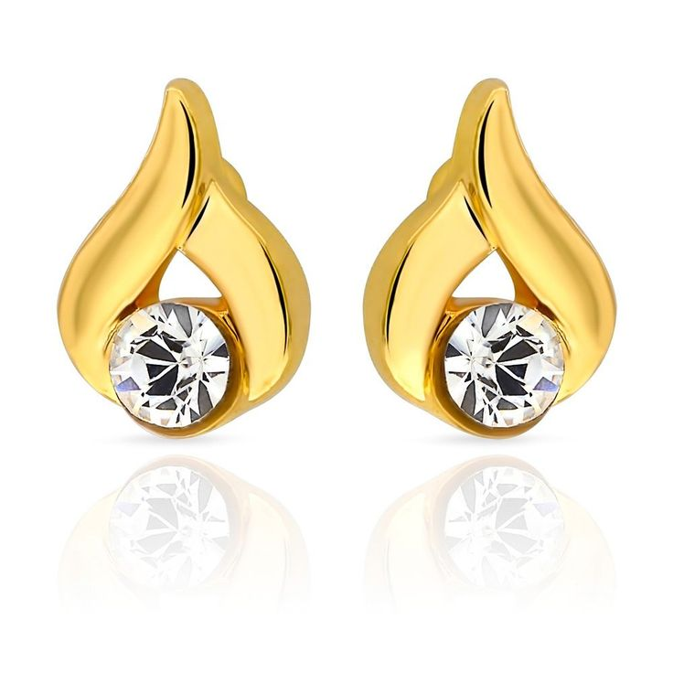 White Crystals from Swarovski Starfishes Stud Earrings 18 ct Gold Plated for Women and Girls P9dRE4bsd