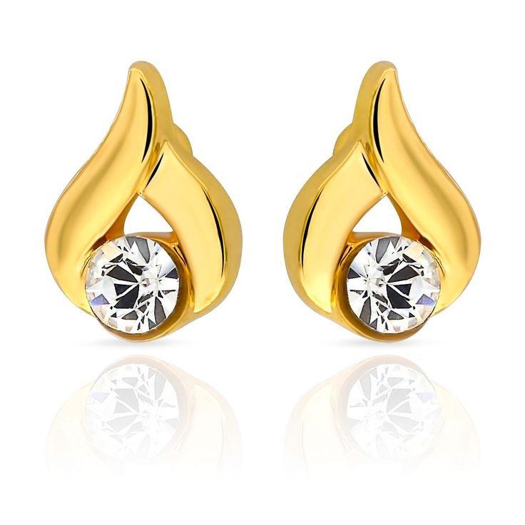 Mahi Eita Collection White Gold Plated Crystal Stones Stud Earrings For Women Er1103681g Online