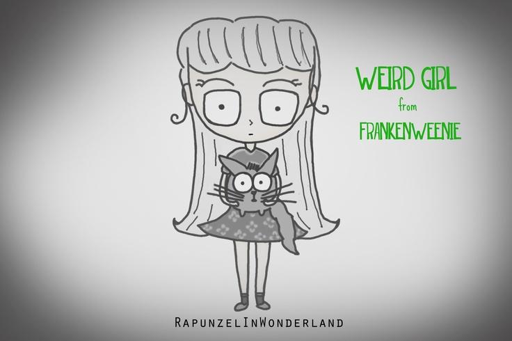 Weird Girl Frankenweenie Doodle