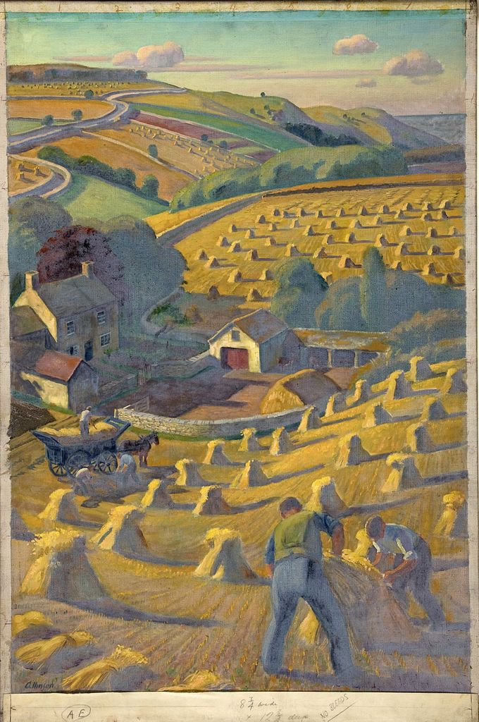 Harvesting by Adrian Allinson 1946