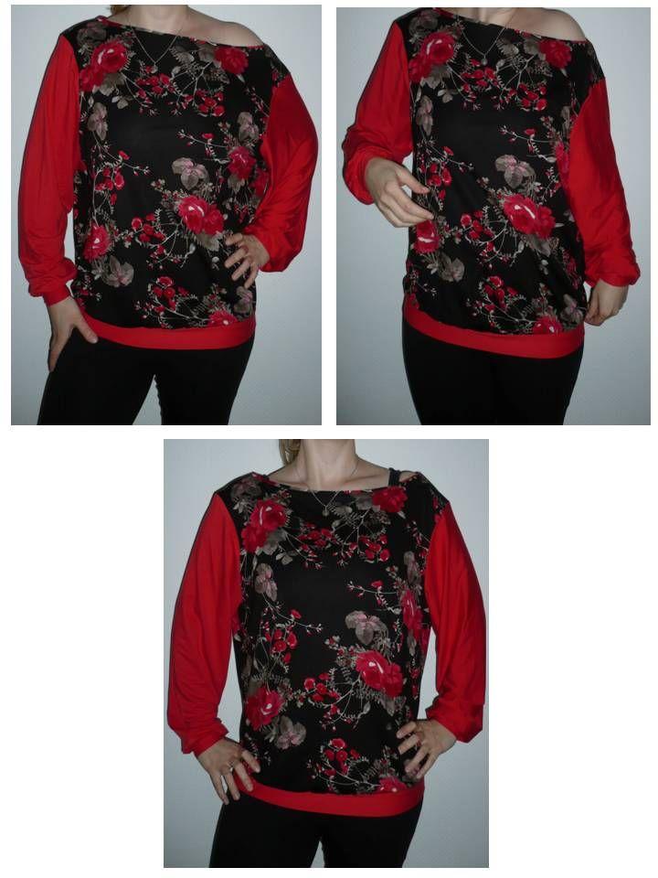 Jersey-Shirt mit U-Boot-Ausschnitt_pattern by burda style