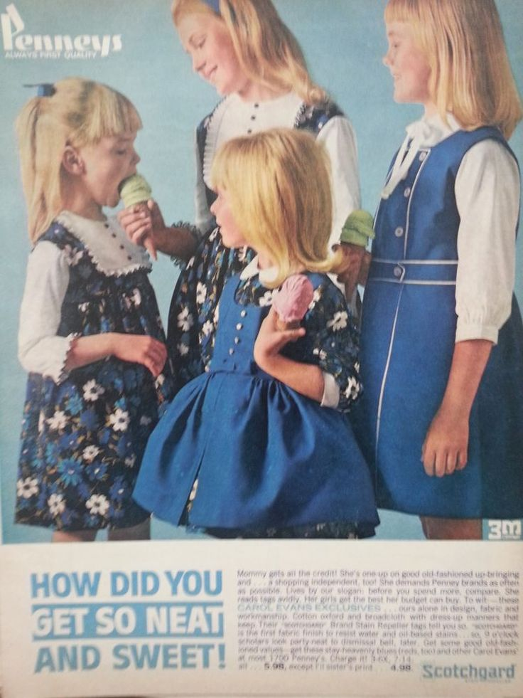 1964 Penneys Cotton Childrens Clothing Scotchgard Repeller Original  Fashion Ad #Penneys