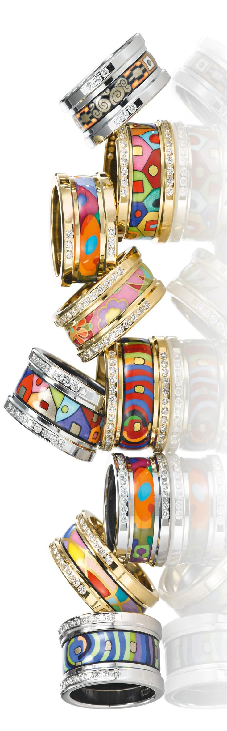 Women's #accessories colorful Frey Wille Lumiere rings  The House of Beccaria  #style #fashion