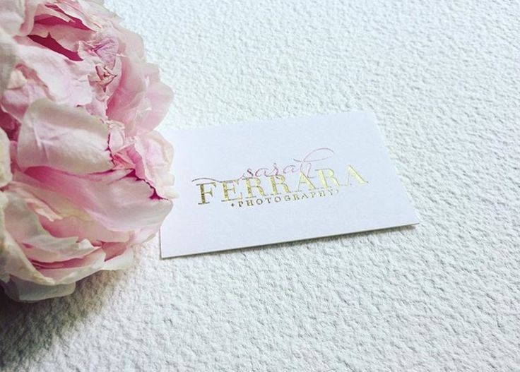Rose gold foil business card