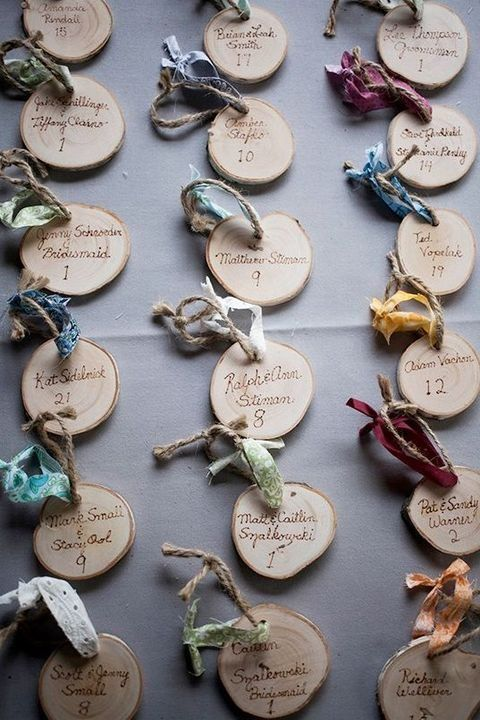 Decorate Your Wedding With Wood Slices | HappyWedd.com