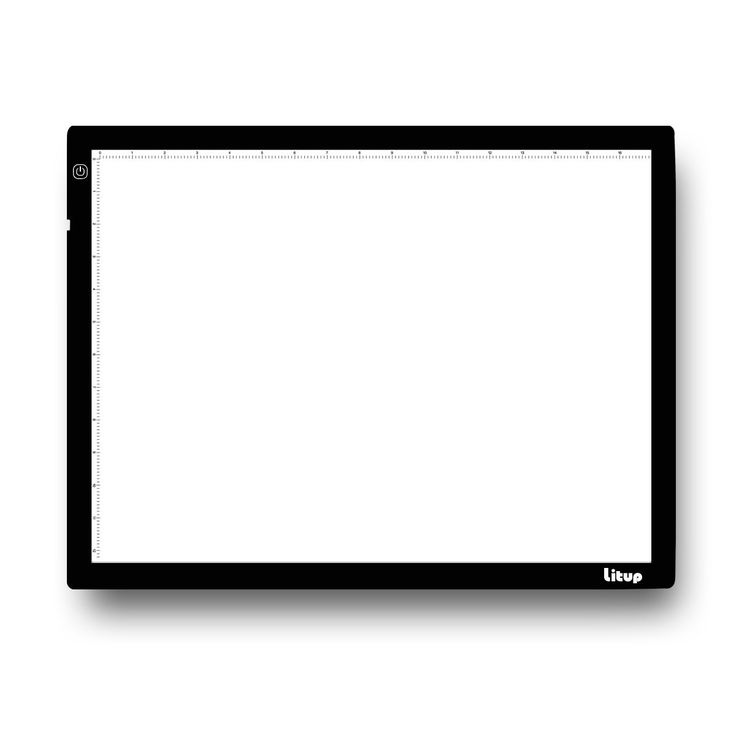 Litup A3 Light Box L18.86×W14.21 Inch Light Pad Light Table Drawing Light Board for Artcraft Tracing Animation Stencil-LP3-USB(A3-USB)