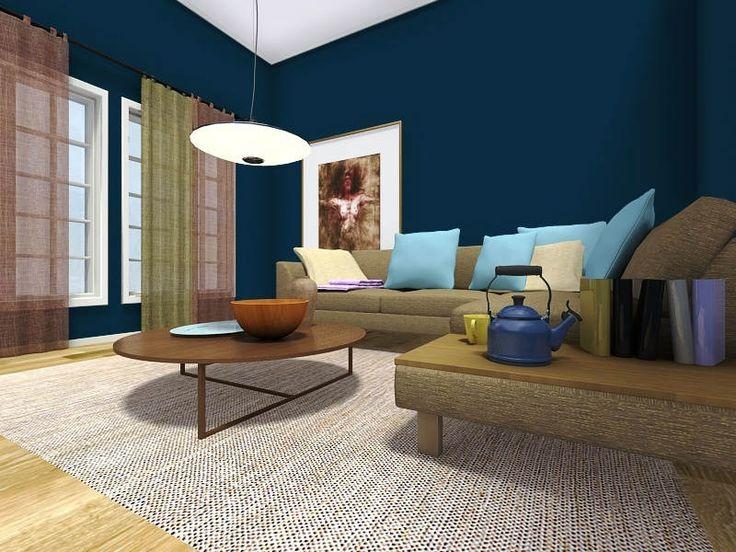 94+ kombinasi cat ruang tamu 2 warna, minimalis & sempit ...