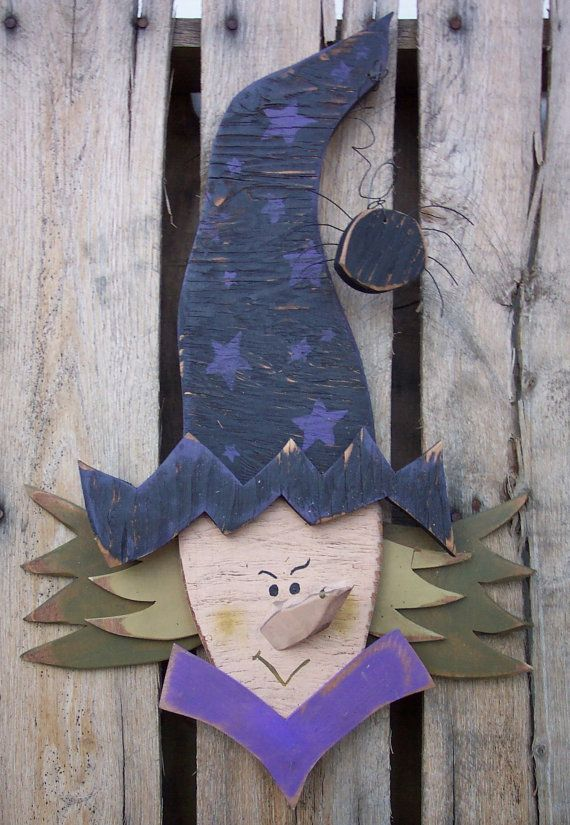 Scary Witch Wood Craft Pattern for Fall & by KaylasKornerDesigns, $7.50