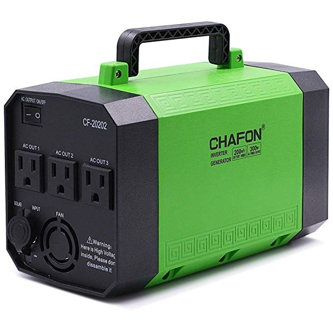 Amazon Com Upgraded Chafon 200wh Portable Generator Power Station Rechargeable Cpap Bat Portable Solar Generator Portable Generator Solar Panel Installation
