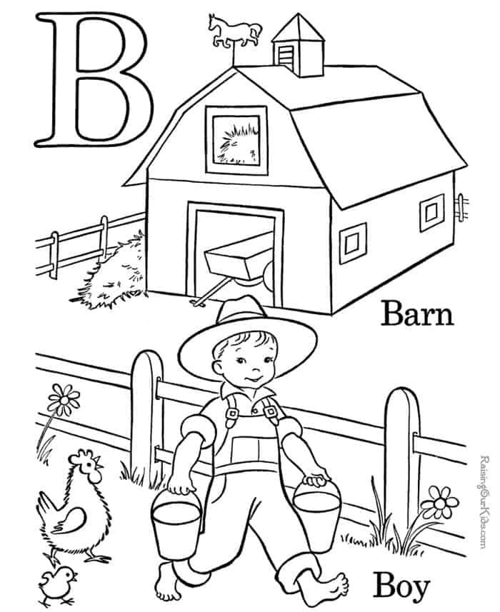 Alphabet Coloring Sheets For Preschoolers